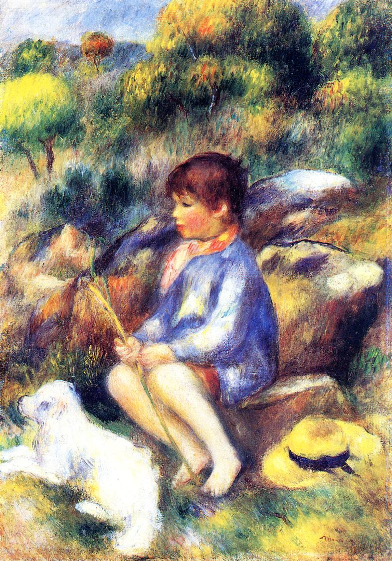 Young Boy by the River 1890 | Pierre Auguste Renoir | Oil Painting