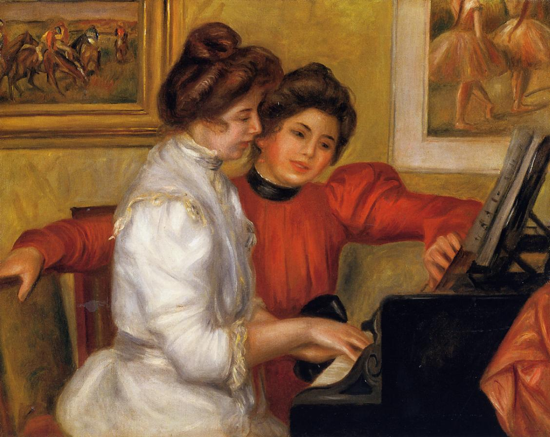 Young Girls at the Piano 1892 | Pierre Auguste Renoir | Oil Painting