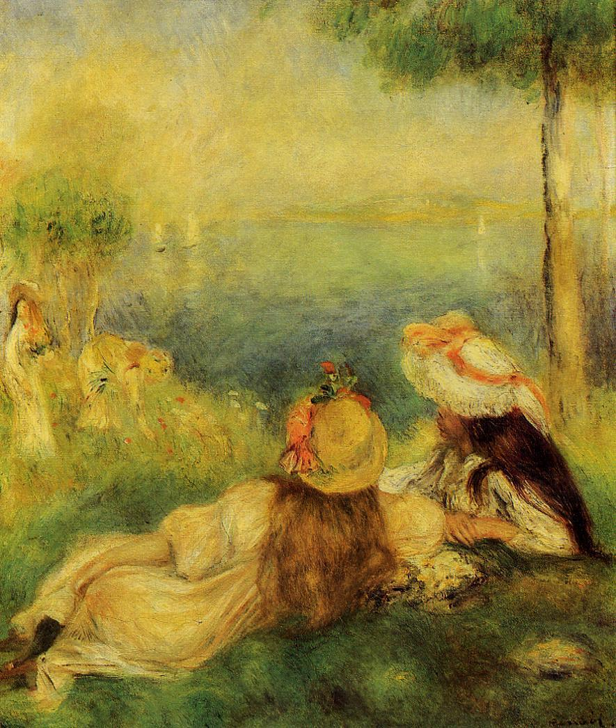 Young Girls by the Sea1 1894 | Pierre Auguste Renoir | Oil Painting
