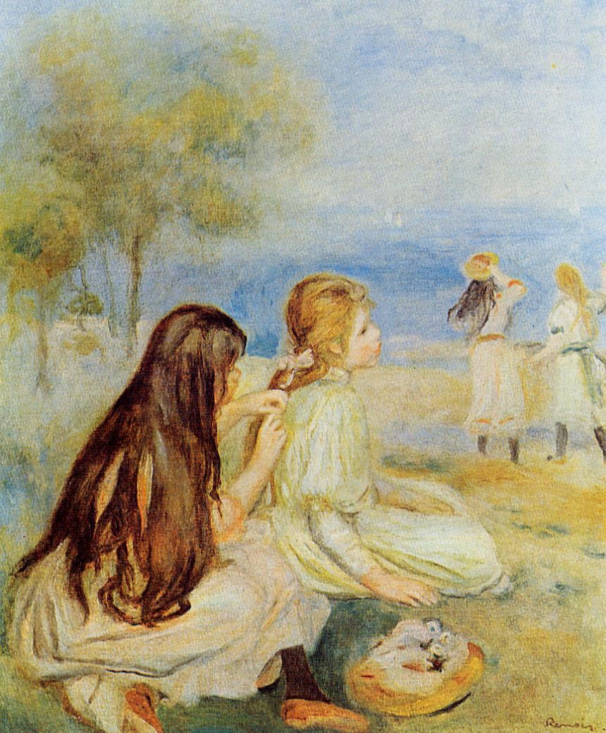 Young Girls by the Sea2 1894 | Pierre Auguste Renoir | Oil Painting