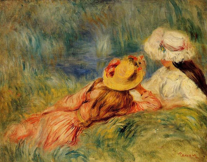 Young Girls by the Water 1893 | Pierre Auguste Renoir | Oil Painting