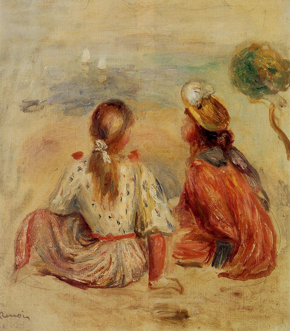 Young Girls on the Beach 1898 | Pierre Auguste Renoir | Oil Painting