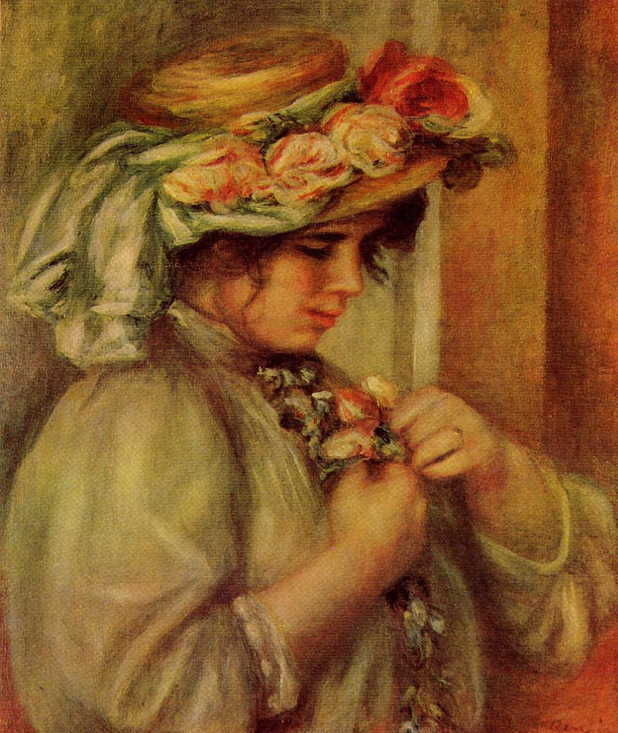 Young Girl in a Hat 1900 | Pierre Auguste Renoir | Oil Painting