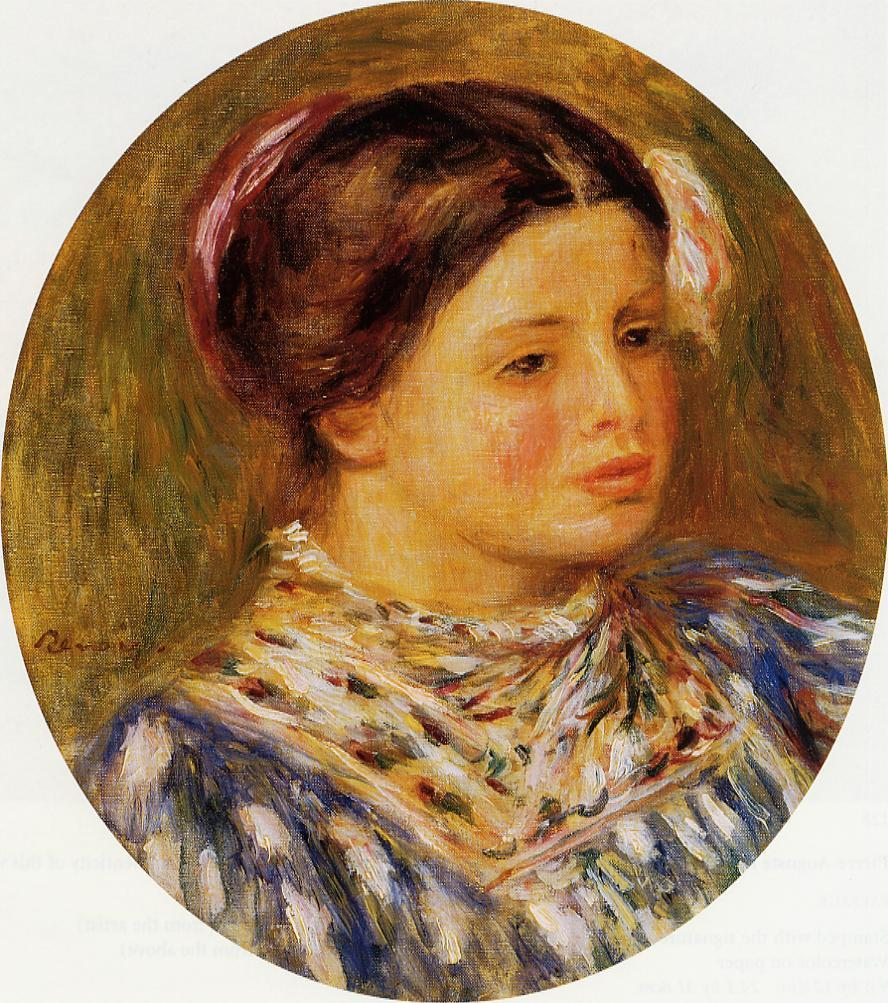 Young Girl in Blue 1912 | Pierre Auguste Renoir | Oil Painting