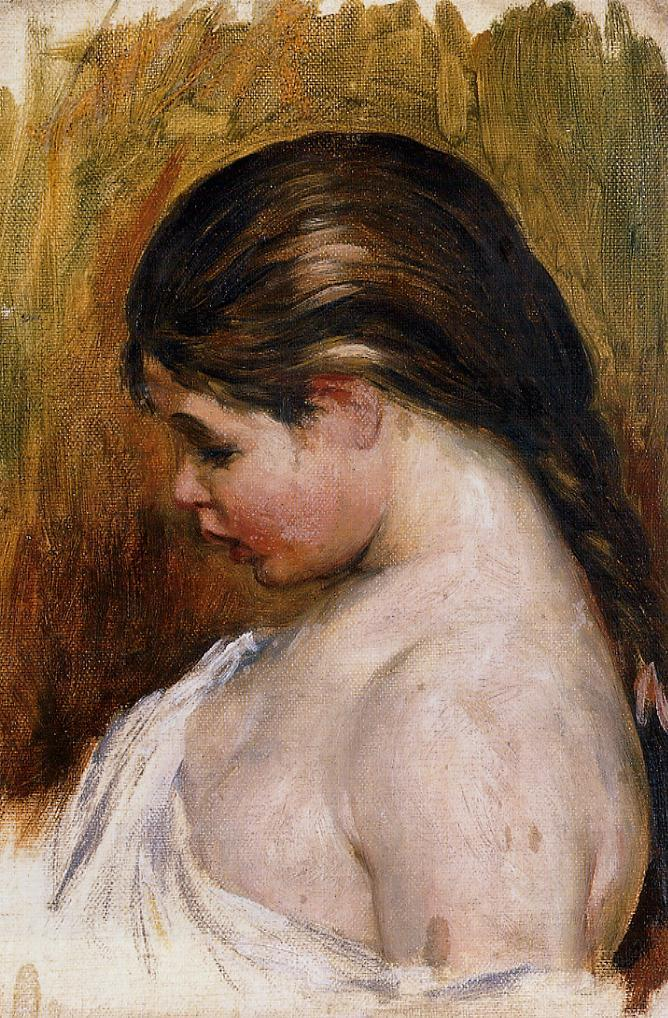 Young Girl Reading 1888 | Pierre Auguste Renoir | Oil Painting