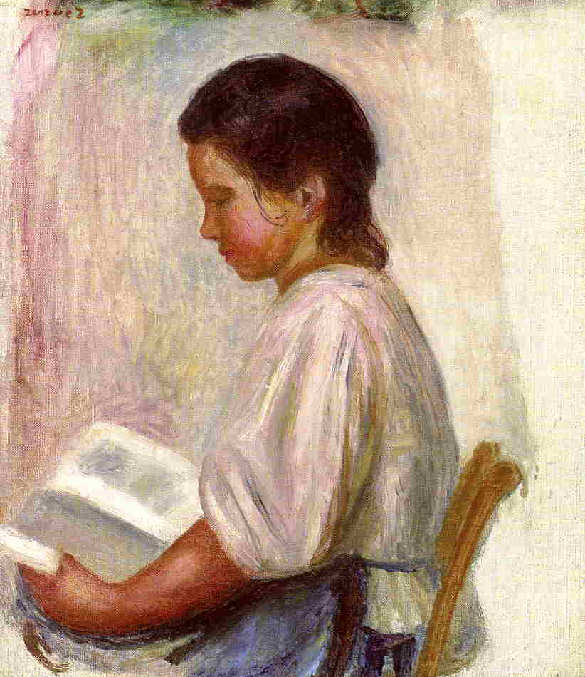 Young Girl Reading 1904 | Pierre Auguste Renoir | Oil Painting