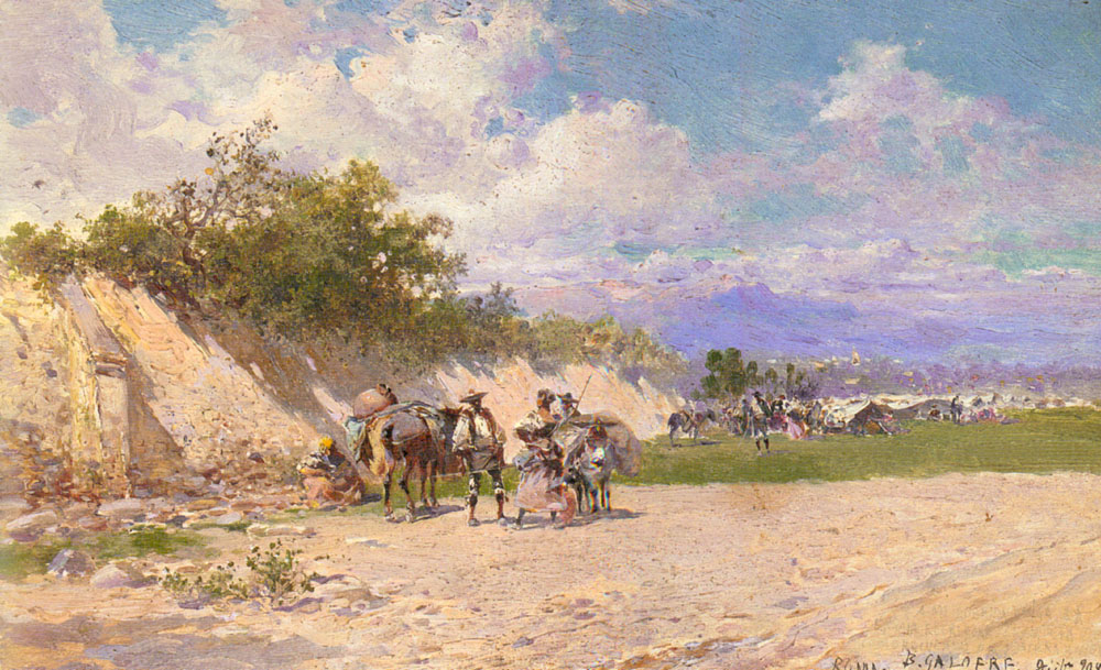 The Gypsy Camp | Baldomero Galofre y Gimenez | Oil Painting