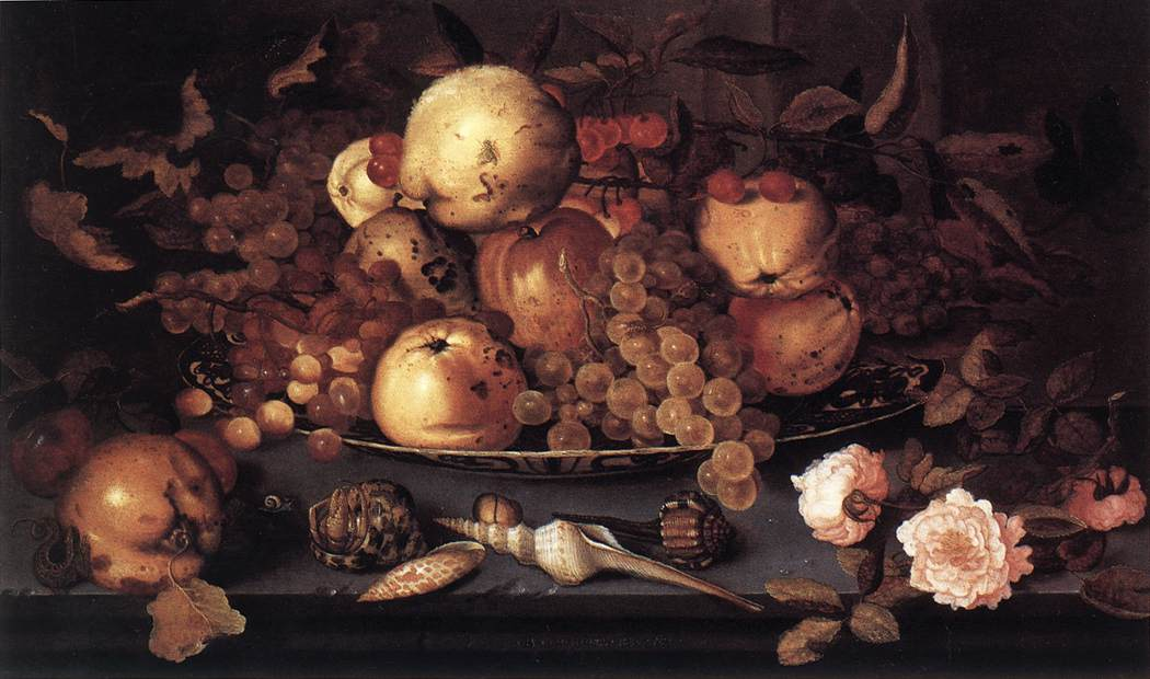 Still-Life With Dish Of Fruit | Balthasar Van Der Ast | Oil Painting