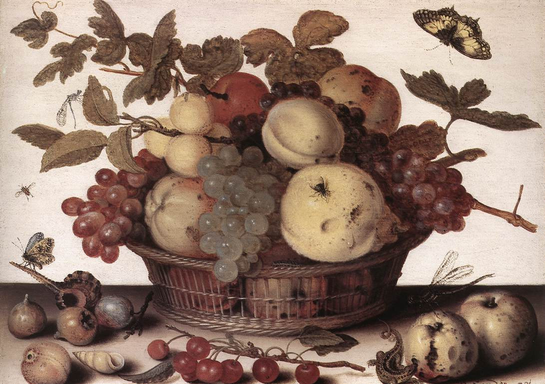 Basket Of Fruits 1632 | Balthasar Van Der Ast | Oil Painting