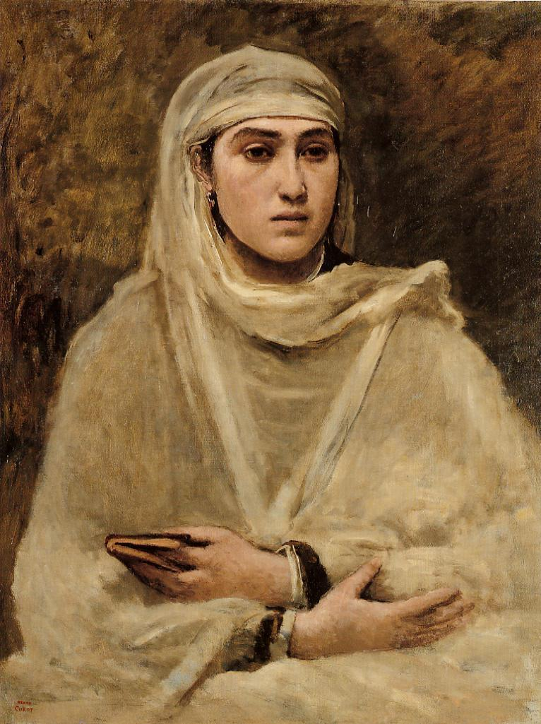Algerian Woman 1870-1873 | Jean Baptiste Corot | Oil Painting