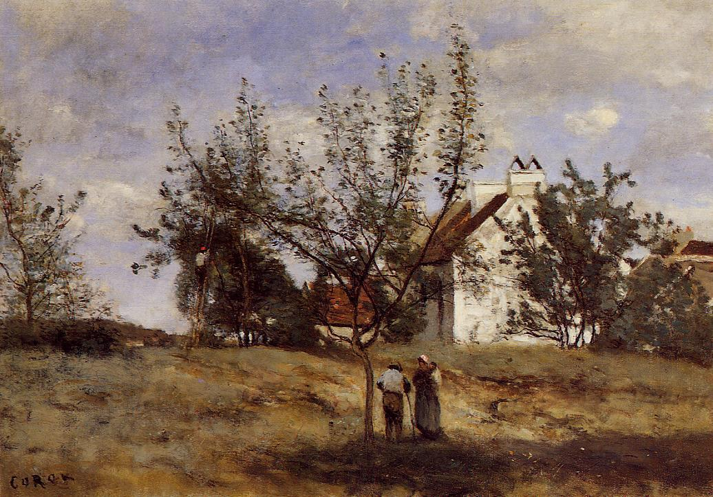 An Orchard at Harvest Time 1850-1860 | Jean Baptiste Corot | Oil Painting