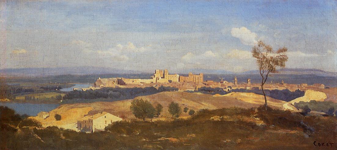 Avignon Seen from Villenueve-les-Avignon 1836 | Jean Baptiste Corot | Oil Painting