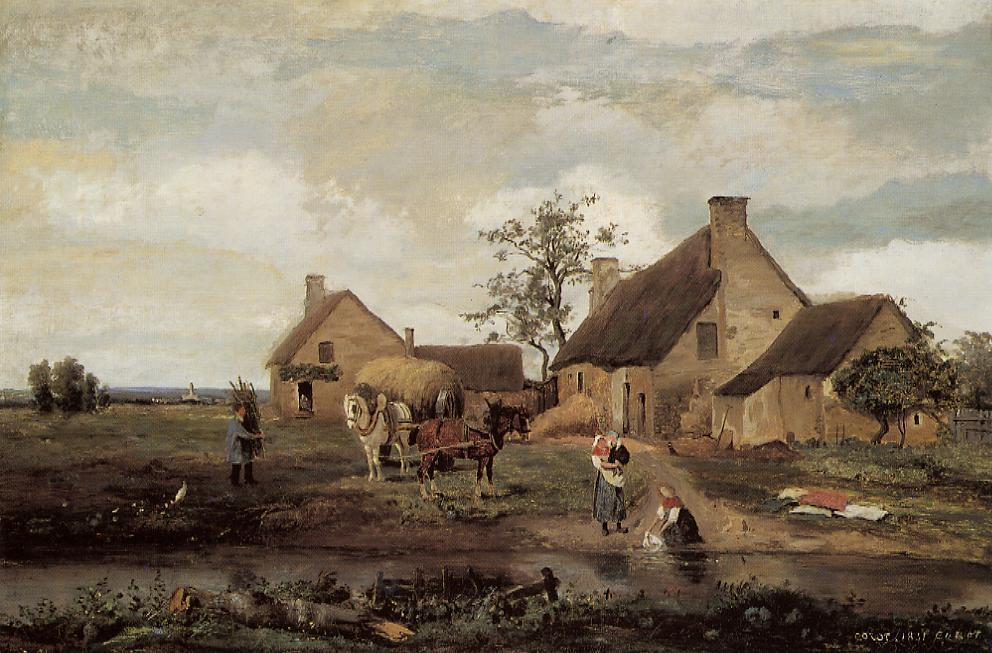 A Farm in the Nievre 1831 | Jean Baptiste Corot | Oil Painting
