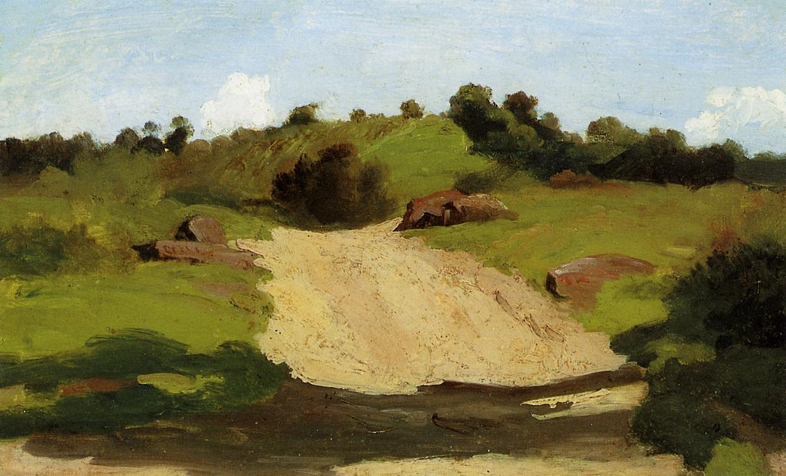 A Rising Path 1845 | Jean Baptiste Corot | Oil Painting