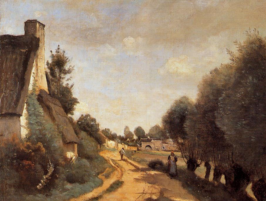 A Road near Arras 1853-1858 | Jean Baptiste Corot | Oil Painting