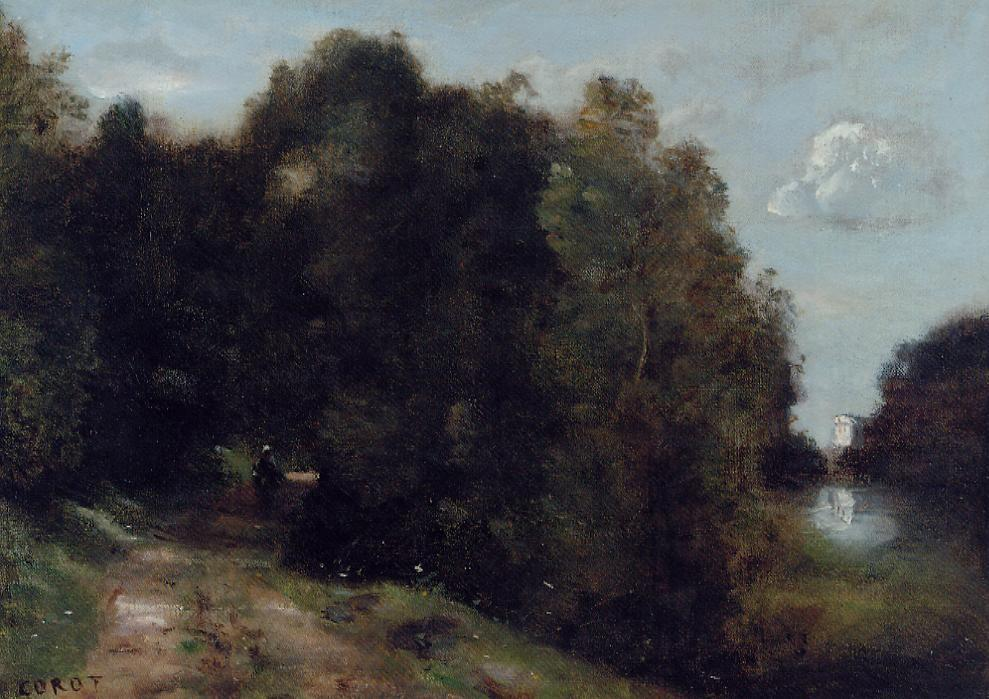 A Road through the Trees 1865-1870 | Jean Baptiste Corot | Oil Painting