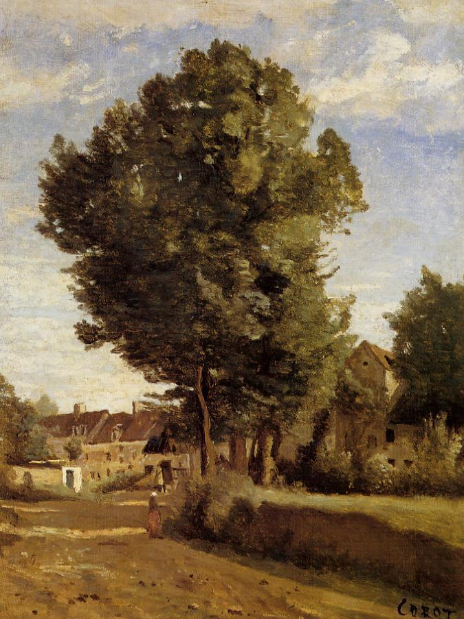 A Village near Beauvais 1850-1855 | Jean Baptiste Corot | Oil Painting