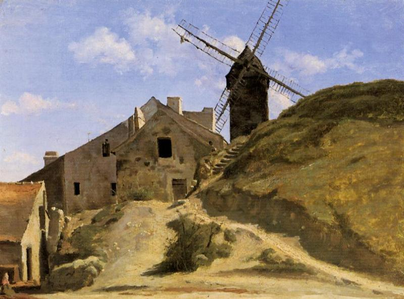 A Windmill in Montmartre 1845 | Jean Baptiste Corot | Oil Painting