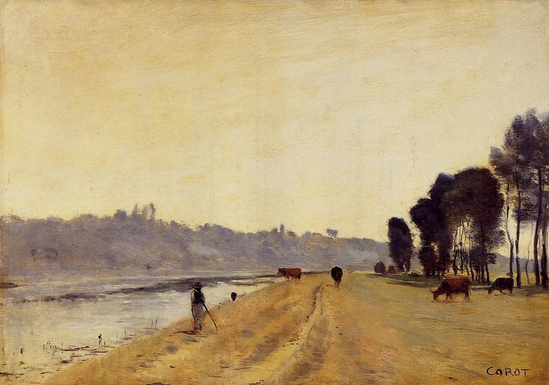 Banks of a River | Jean Baptiste Corot | Oil Painting