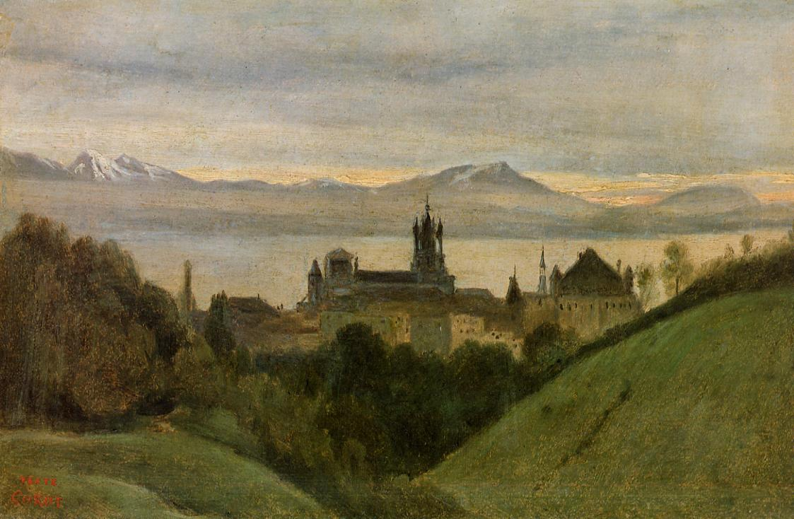 Between Lake Geneva and the Alps 1825 | Jean Baptiste Corot | Oil Painting