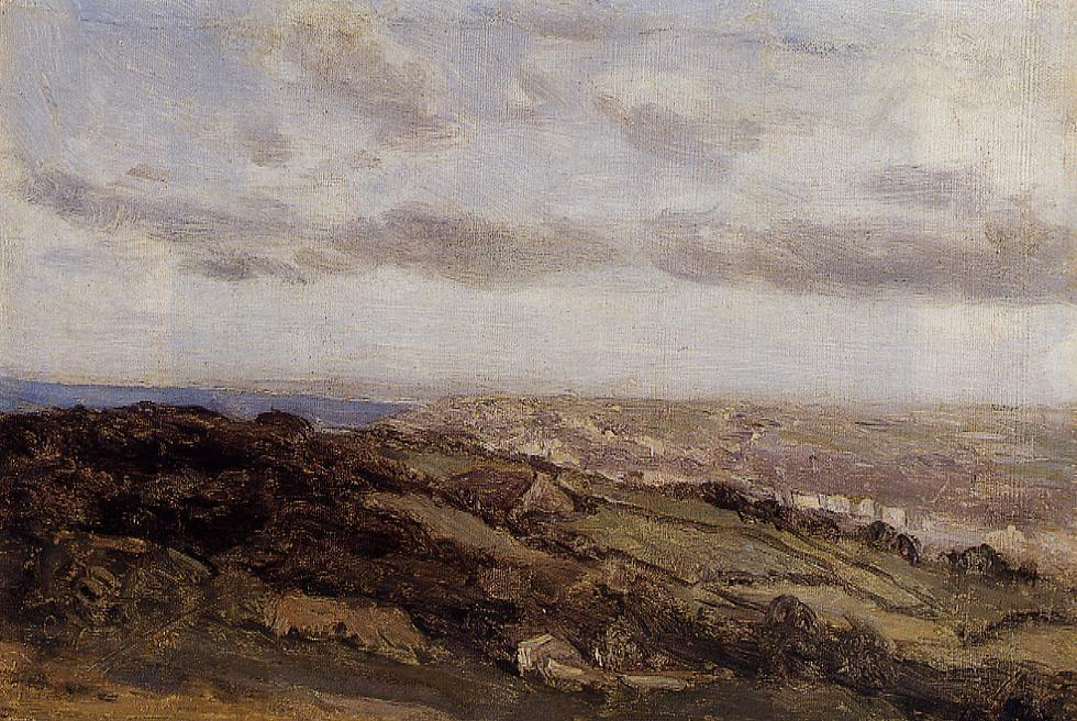 Bologne-sur-Mer View from the High Cliffs 1855-1860   Jean Baptiste Corot   Oil Painting