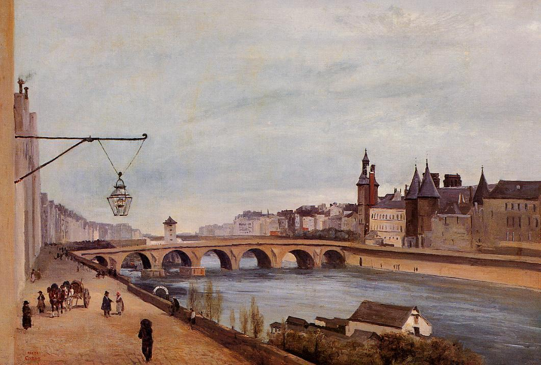 The Pont-au-Change and the Palais de Justice 1830 | Jean Baptiste Corot | Oil Painting
