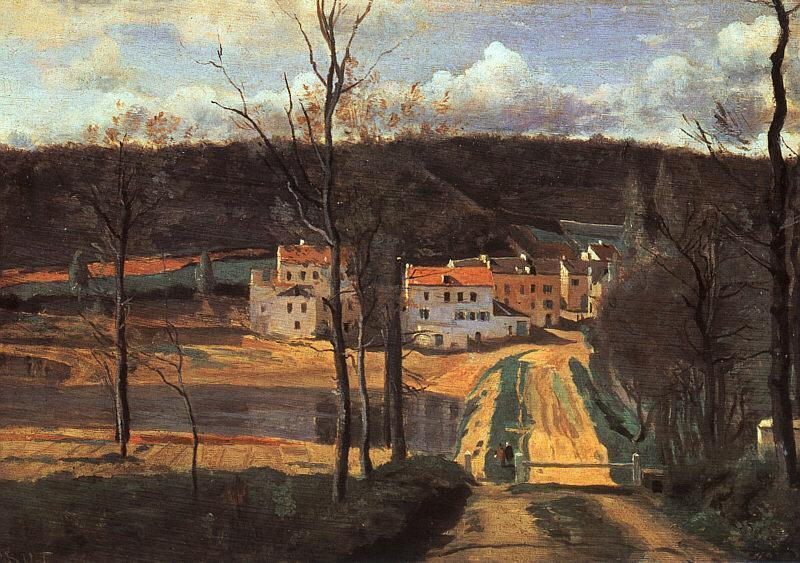 Ville d'Avray the Pond and the Cabassud House 1835-1840 | Jean Baptiste Corot | Oil Painting