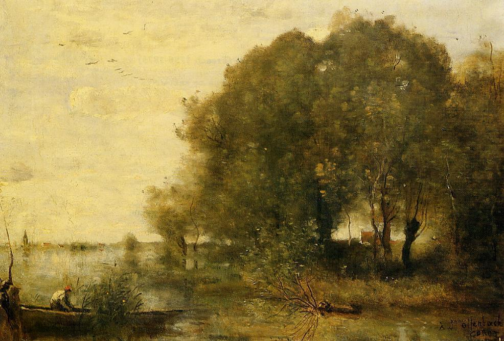 Wooded Peninsula 1865-1868 | Jean Baptiste Corot | Oil Painting