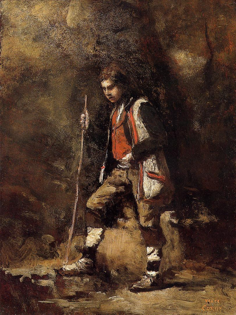 Young Italian Patriot in the Mountains 1845-1855 | Jean Baptiste Corot | Oil Painting