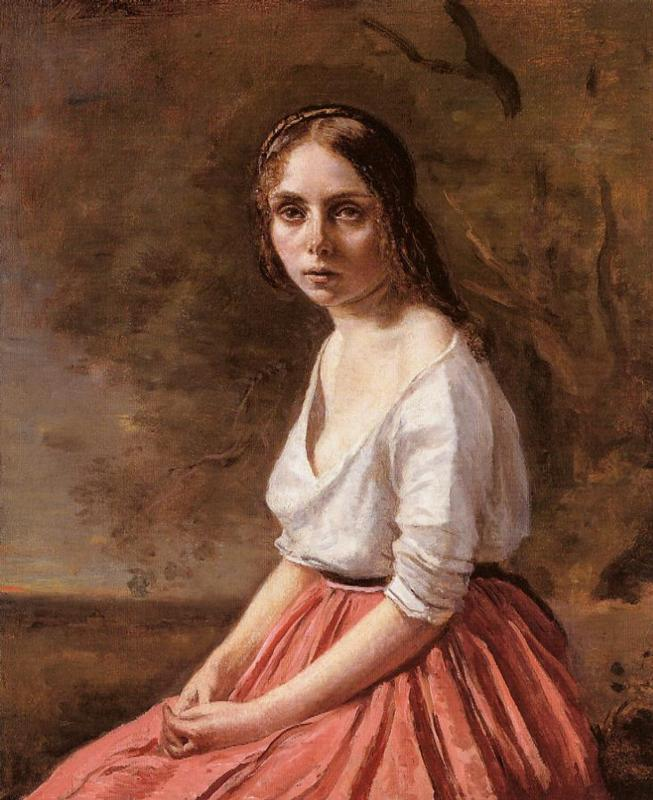 Young Woman 1840-1845 | Jean Baptiste Corot | Oil Painting