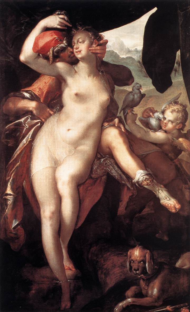 Venus and Adonis 1597 | Bartholomeus Spranger | Oil Painting