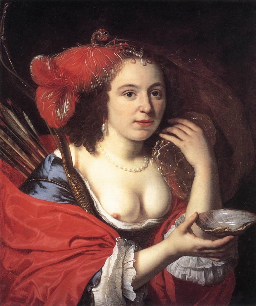 Anna Du Pire As Granida 1660 | Bartholomeus Van Der Helst | Oil Painting