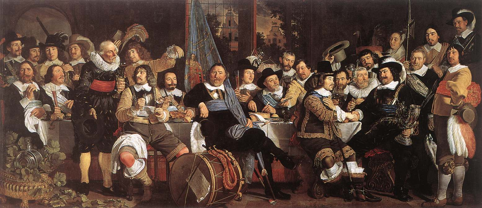 Celebration Of The Peace Of Muenster 1648 At The Crossbowmens Headquarters | Bartholomeus Van Der Helst | Oil Painting