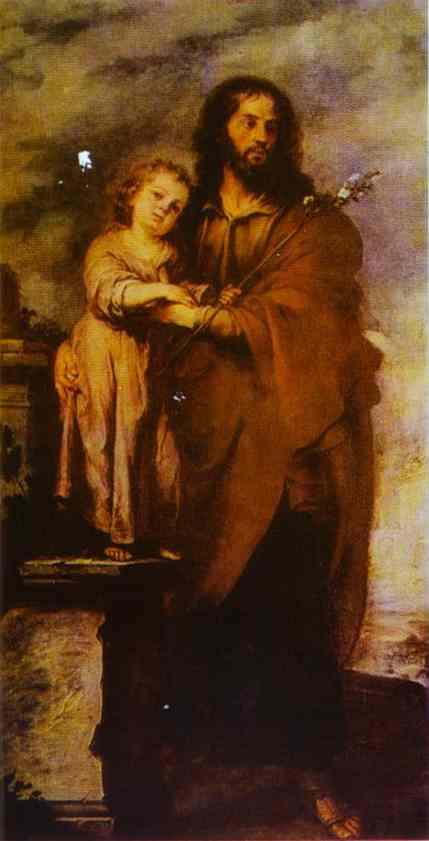 Joseph With Infant Christ 1665-1666 | Bartolome Esteban Murillo | Oil Painting