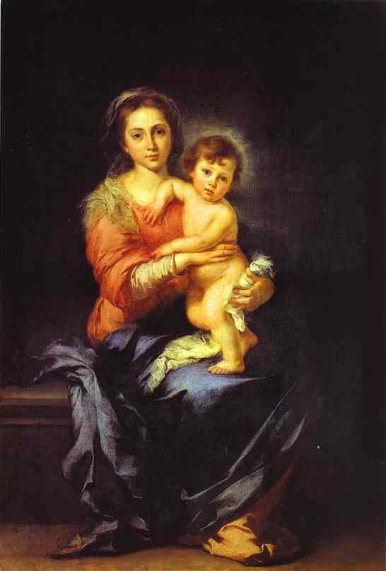 Madonna And Child Palazzo Pitti | Bartolome Esteban Murillo | Oil Painting