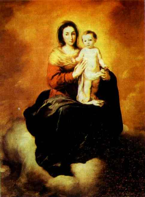 Madonna In The Clouds 1656-1660 | Bartolome Esteban Murillo | Oil Painting