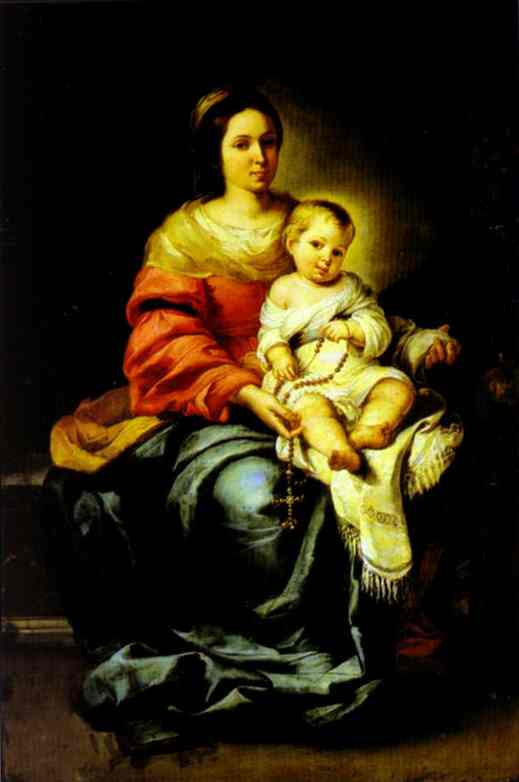 Madonna Of The Rosary Palazzo Pitti | Bartolome Esteban Murillo | Oil Painting