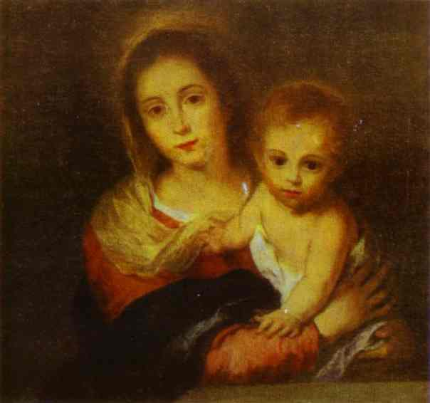 Madonna With A Napkin 1665-1666 | Bartolome Esteban Murillo | Oil Painting
