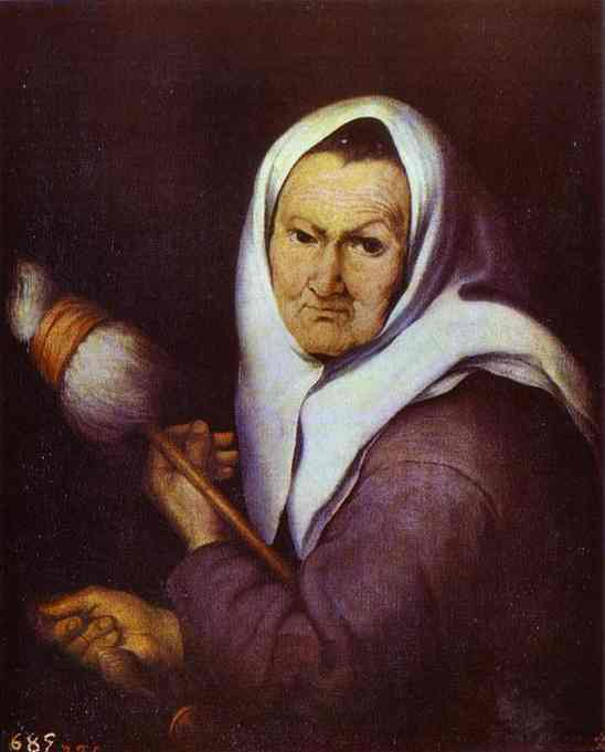 Old Woman With A Distaff 1642 | Bartolome Esteban Murillo | Oil Painting
