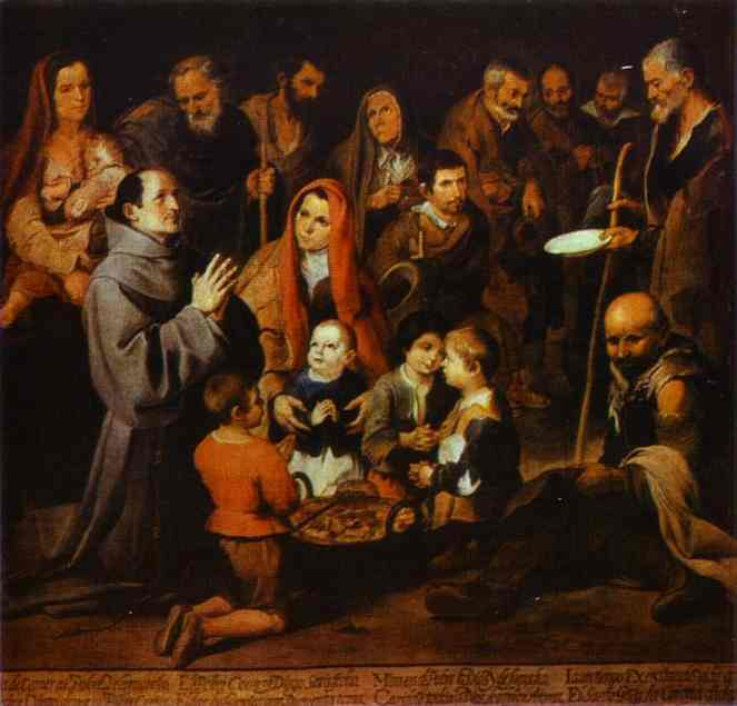 St Diego Giving Alms 1645-46 | Bartolome Esteban Murillo | Oil Painting
