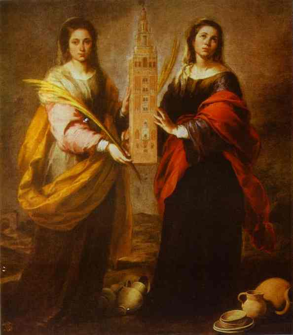 St Justa And St Rufina 1665-1666 | Bartolome Esteban Murillo | Oil Painting