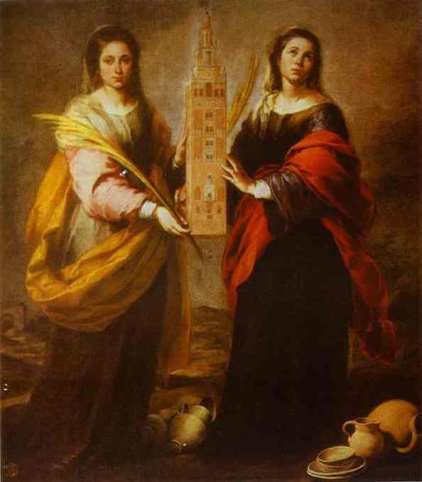 St Justa And St Rufina 1665-1666 | Bartolome Esteban Murillo | Oil Painting