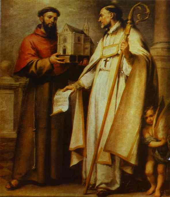St Leander And St Bonaventura 1665-1666 | Bartolome Esteban Murillo | Oil Painting