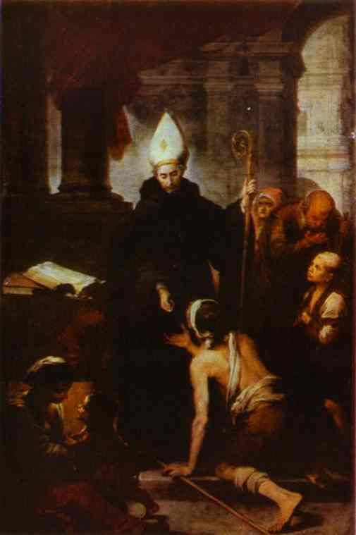 St Thomas Villanueva Giving Alms 1668 | Bartolome Esteban Murillo | Oil Painting