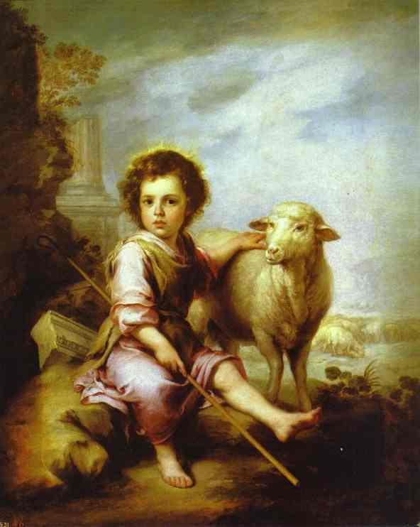 The Good Shepherd 1660 | Bartolome Esteban Murillo | Oil Painting