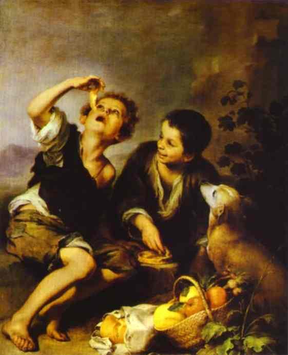 The Pie Eater 1662-1672 | Bartolome Esteban Murillo | Oil Painting