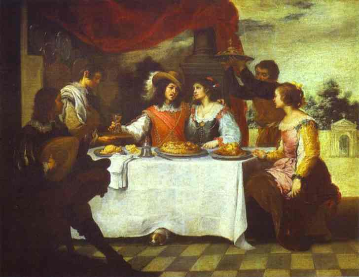 The Prodigal Son Feasting With Courtesans-1660s | Bartolome Esteban Murillo | Oil Painting