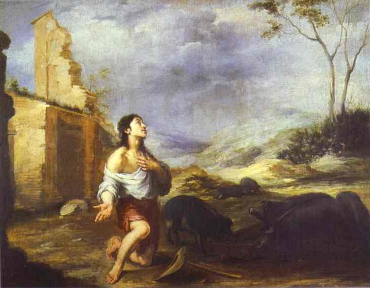 The Prodigal Son Feeding Swine 1660s | Bartolome Esteban Murillo | Oil Painting