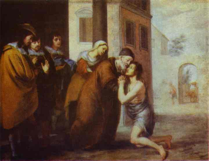 The Return Of The Prodigal Son 1660s | Bartolome Esteban Murillo | Oil Painting