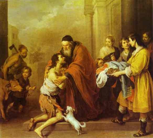 The Return Of The Prodigal Son 1670-74 | Bartolome Esteban Murillo | Oil Painting